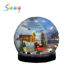 HOT Giant Inflatable Christmas Ornaments Ball Snow Globe for Outdoor Advertising
