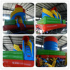 Spiral shape moon bounce lawn water slides for sale