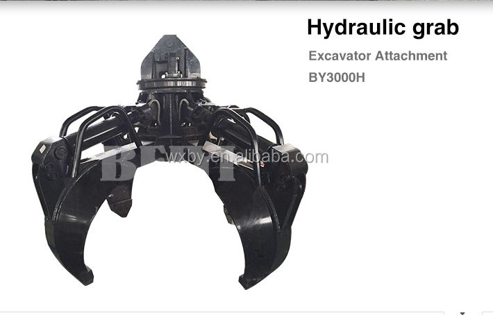BEIYI produce BY1000H excavator used hydraulic scrap grab and scrap grapple