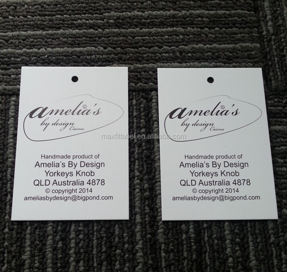 Wholesale Customized Hang Tags,Garment Tags,Printed Tags PVC and Paper Hand Tag
