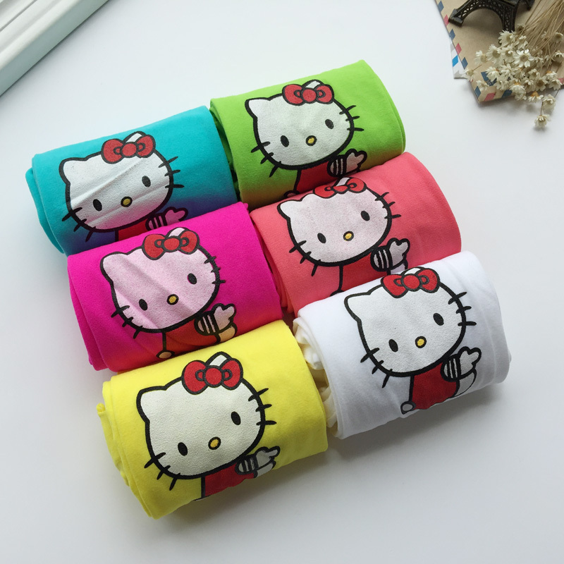1pc free shipping Baby girl female pantyhose tights children kids velvet hello kitty cat dance stockings