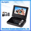 Shenzhen Sunpin portable 7 inch LCD DVD Player Home with TV Radio USB