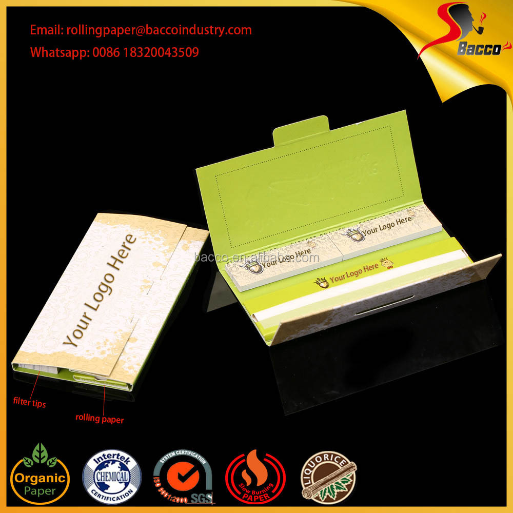 Custom Your Brand Smoking Rolling Paper With Filter Tips High Class Package