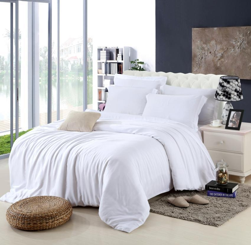 King Size Luxury White Bedding Set Queen Duvet Cover
