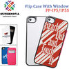 China Supplier Supernovatec Sublimation Filp Case with Window for iPhone 5 5S