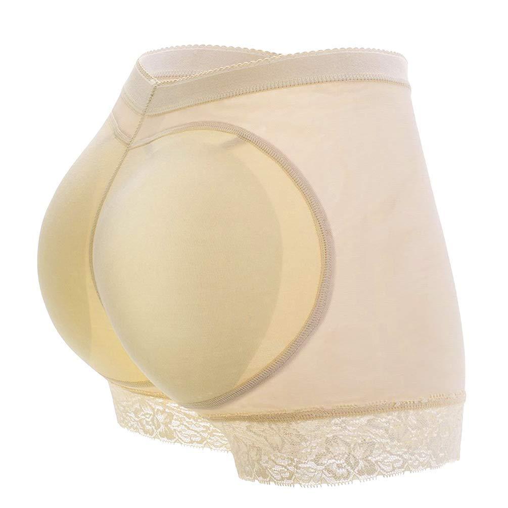 537f35212 Get Quotations · DODOING Women Seamless Lace Butt Lifter Padded Butt Hip  Enhancer Shaper Panties Underwear