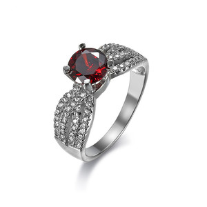 Onier 18k Gold natural ruby ring wholesale classic engagement ring for Christmas gift