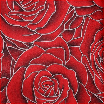 Romantic Red Rose Wallpaper Classical Vinyl Wallcovering Buy