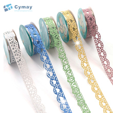 Custom pattern PVC colored decoration sticker laser packaging tape