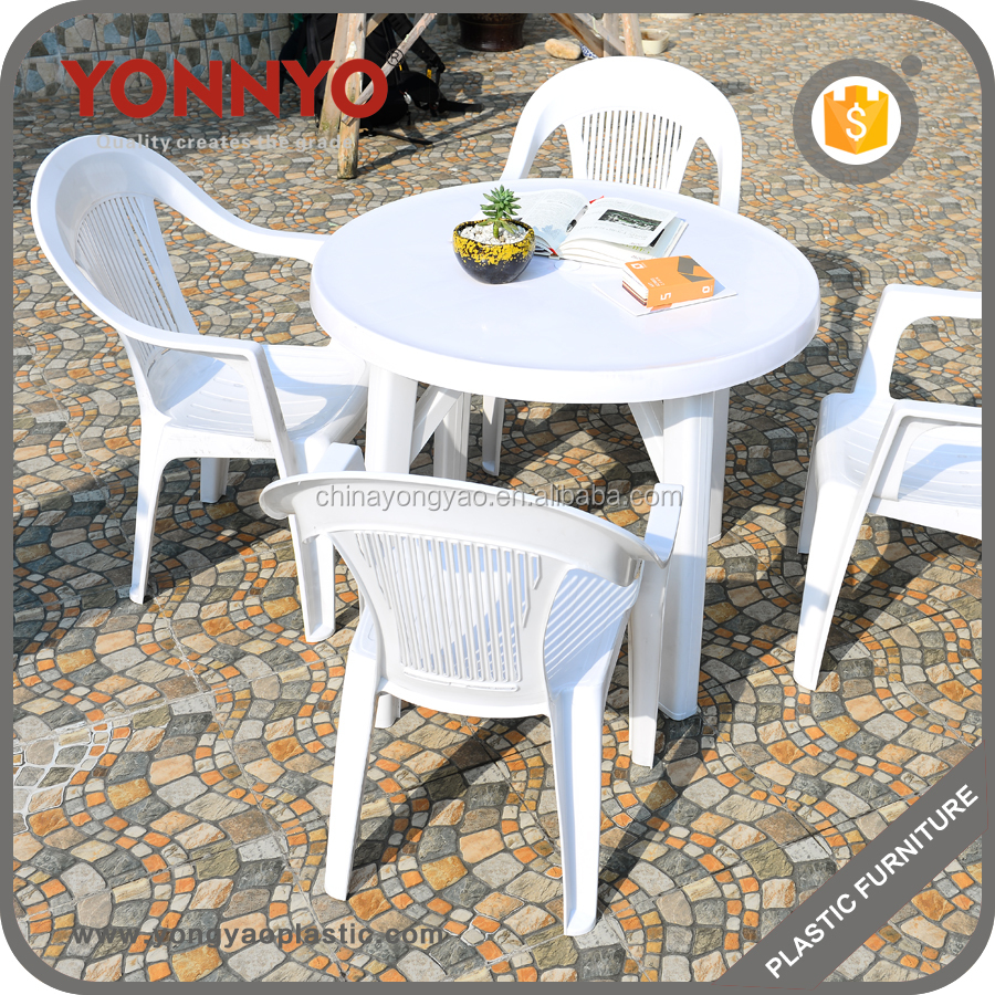PP chair and table popular best price plastic outdoor garden furniture