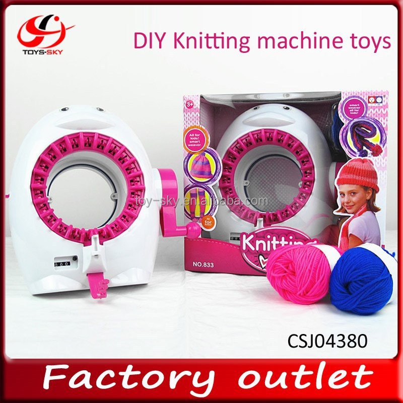 2015 New toys For kid popular intelligent kits Penguin diy knitting machine toys for sale