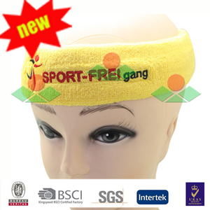 custom embroidery shiny letters logo head sweatband sports adults and kids headbands