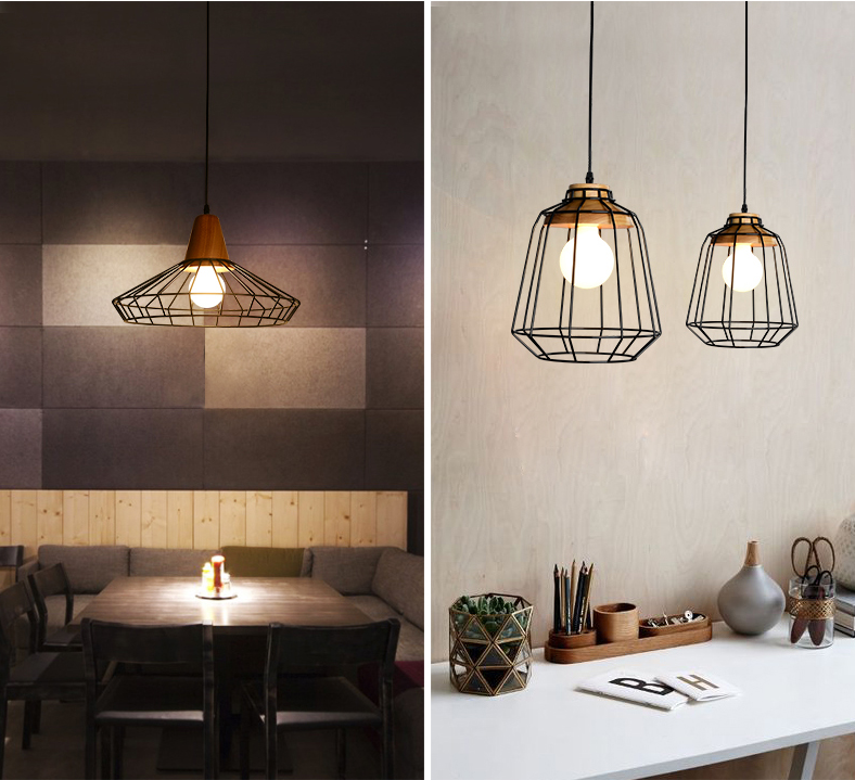 Industrial Lights For Shop: Decorative Metal Pendant Light Cord Wire Pendant Light For