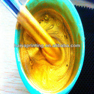 golden ink/paste for screen printing