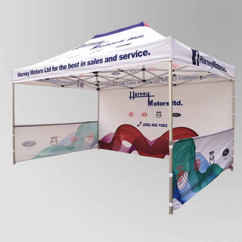 3x6m free design outdoor advertising printing pop-up trade show sunshade folding tent