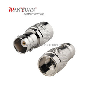 BNC Jack Female to Embedded SMA Plug Male RF Coaxial Connector Adapter