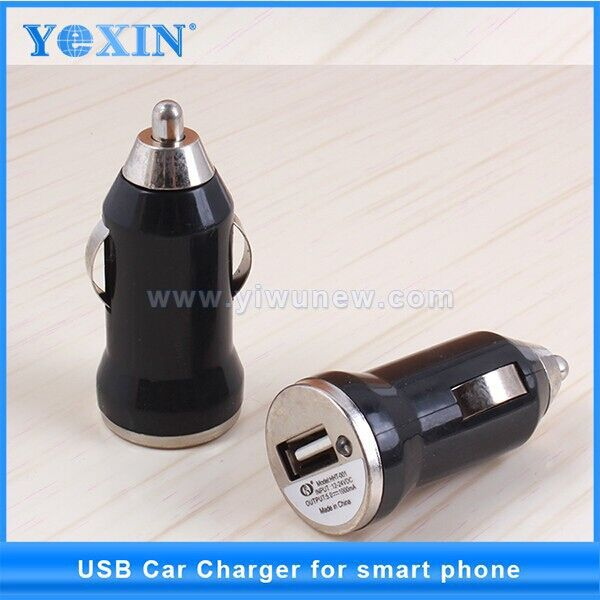 Grosir ponsel charger mobil 5 v 1a universal tunggal Mini usb charger mobil untuk apple iphone ponsel android