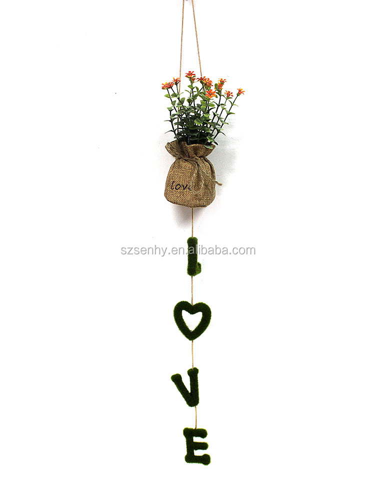 Outdoor artificial hanging plants decorative