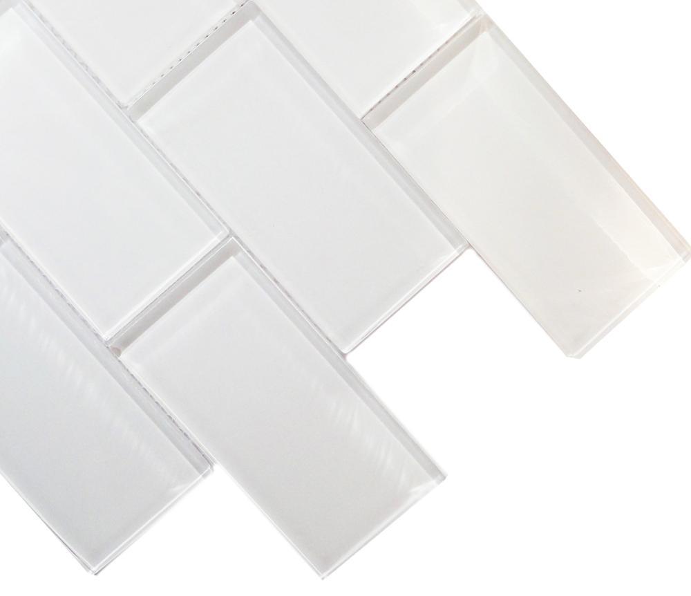 Perfekt Pure White Glas Material U Küche Backsplash Fliesen Glas Mosaik Ziegel  U Bahn Bad Glas