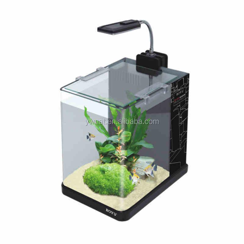 2015 factional design joyful home led desktop aquarium office table mini aquarium office desk aquarium
