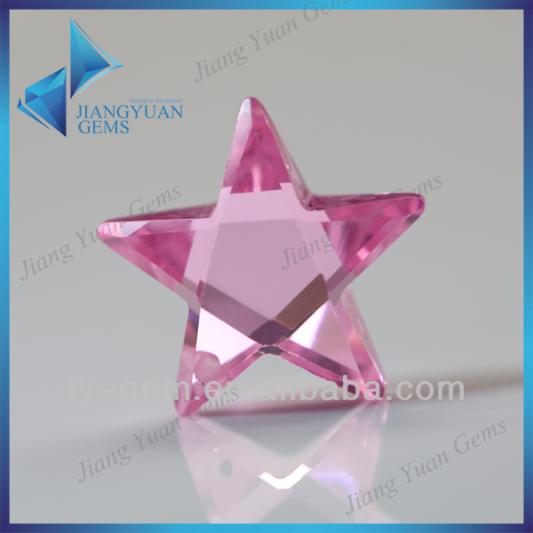 Guangxi Wholesale Clear Pink Star Shape CZ Loose Gemstone
