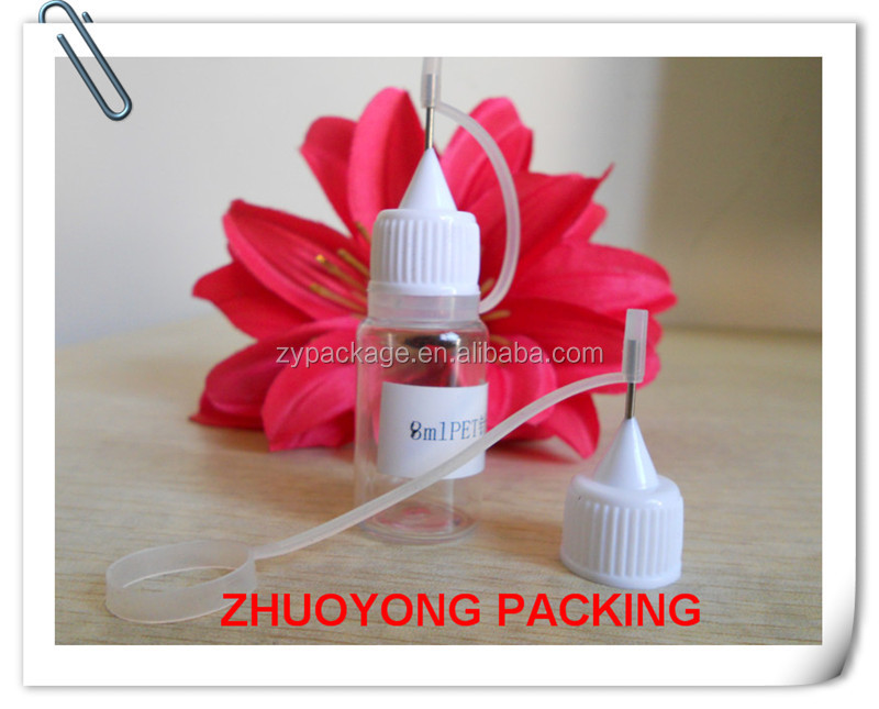 2015 Hot selling! 8ml PET plastic dropper bottle with niddle tip 5ml 8ml 10ml 18ml 20ml 30ml pet bottle