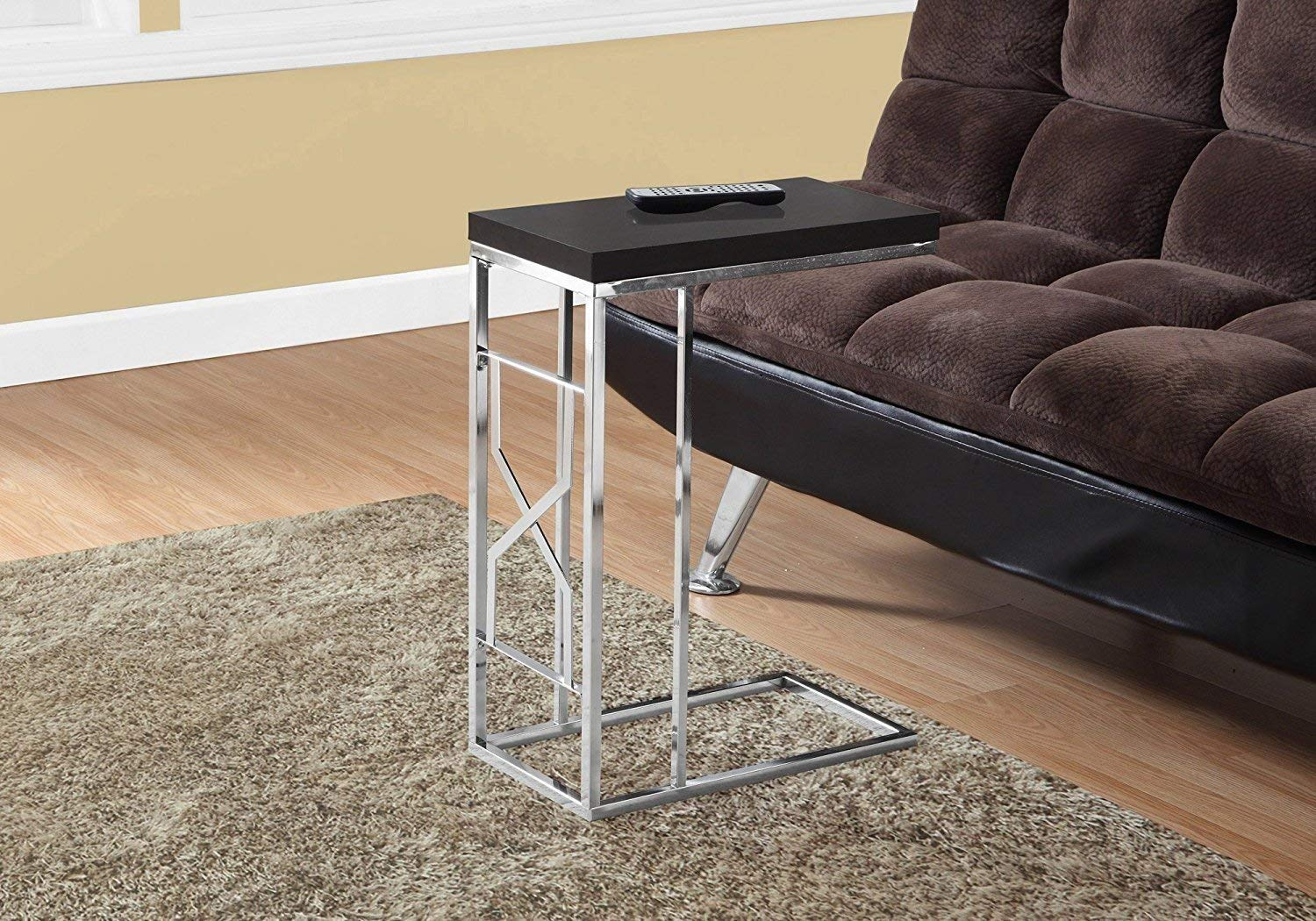 Indoor Multi-Function Accent Table Study Computer Home Office Desk Bedroom Living Room Modern Style End Table Sofa Side Table Coffee Table Metal accent table