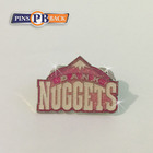 Personalized custom soft enamel pin pink colour glitter badge 1.25inch military Clutch metal lapel pin custom shape backer card