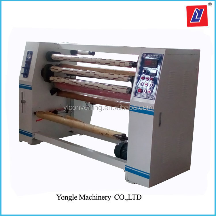 Carton Sealing Adhesive Roll Slitter Machine