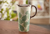large volume thin porcelain cup,porcelain handle mug