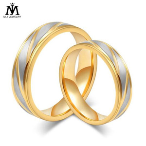Popular fashion jewelry latest gold finger ring designs Engagement Wedding Gold Ring Without Stone