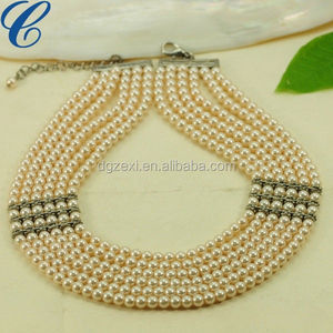 Jewelry Multi Layer Simulated Pearl Necklace