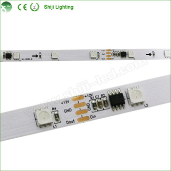 Flexible Addressable Rgb 5v Dmx Led Strip Ws2801 Light - Buy 5v Led Strip  Ws2801,Led Dmx Pixel Strip Rgb,Addressable Rgb Led Strip Product on