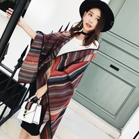 Fashion oversized warm wave pashmina fluffy poncho stole shawl scarf