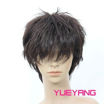 84f6eb168 Del hombre negro peluca para hombre Peluca de pelo corto hombres 1152