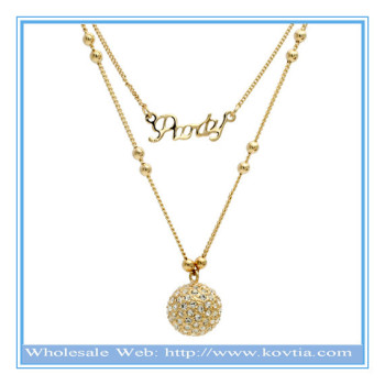 classic product gold collection beautiful diamonds zoom the pendant with white a an coronet and necklace