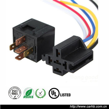Auto Truck Relay Wiring Socket Spdt 12v Dc 40a Amp 5pin - Buy Auto on automotive relay wiring, single pole relay wiring, 12 volt relay wiring,