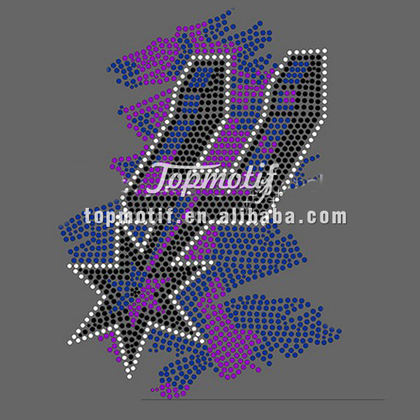 custom Motif spurs rhinestone iron on transfer