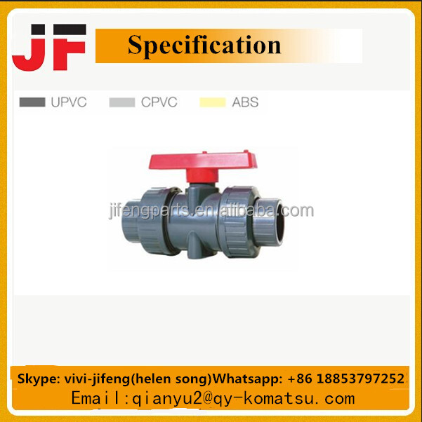 ISO9001 UPVC/CPVC/ABS fittings Doppel Union Kugelhahn