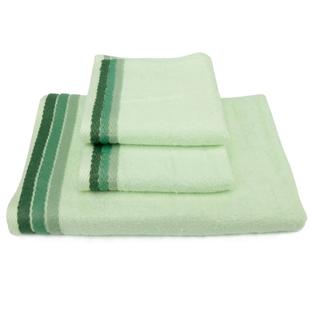Maypluss BS2 100% High Quality Bamboo Fiber Bath Towel Sets, 600 GSM 3 pack (Light Green)
