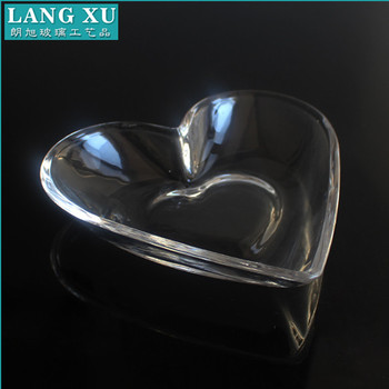 clear glass heart shaped dinner plates set for kitchen use & Clear Glass Heart Shaped Dinner Plates Set For Kitchen Use - Buy ...