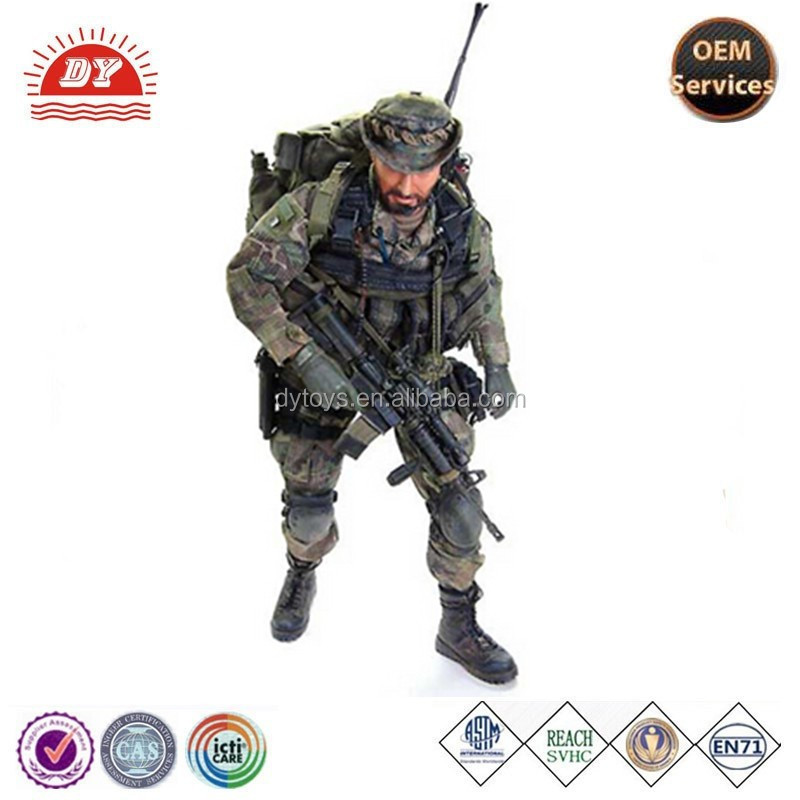 Soldier with machine gun,army boots, army bag and army cap focus on OEM produce for 18 years with ICTI certification