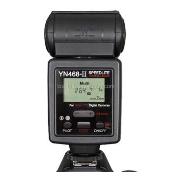 Baru YONGNUO YN468II YN 468 Ii Flash Nyala Speedlite Dengan Layar Lcd Untuk Canon Panas