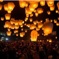 Cylinder Shaped Candle Balloon Wedding Wish Chinese Flying Paper Lanterns