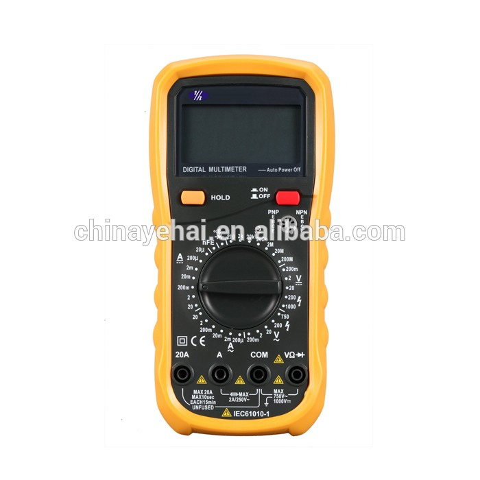 YH117 With Temperature Tester Pocket Digital Multimeter