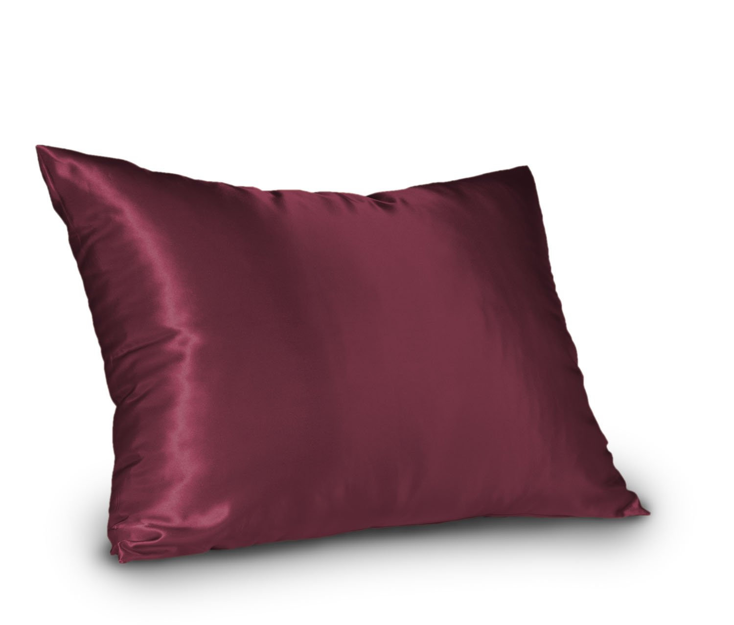 Shop Bedding Sweet Dreams - Blissford Luxury Satin Pillowcase with Zipper, Queen Size, Raspberry (Silky Satin Pillow Case for Hair) By (1-Pack)