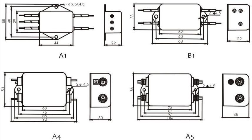 220v single phase ac power line emi noise filter