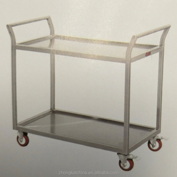 HEAVY DUTY 2 Shelves Stainless Steel Kitchen Trolley /carrying Food  Trolley/Restaurant Service