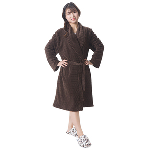 Unisex cutting fleece bathrobe short robes