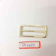 Zinc alloy iron square ring for handbag purse accessories